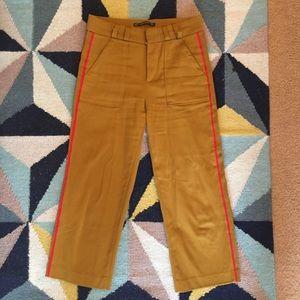 Zara mustard yellow trouser pants sz M
